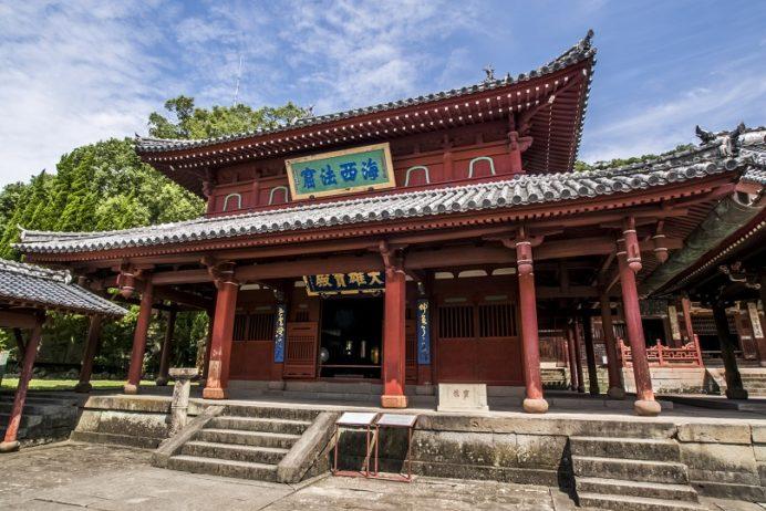 崇福寺(長崎市鍛冶屋町)の大雄宝殿(本堂)、国宝