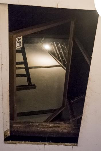 旧グラバー住宅(長崎市グラバー園)内の天井の隠し部屋