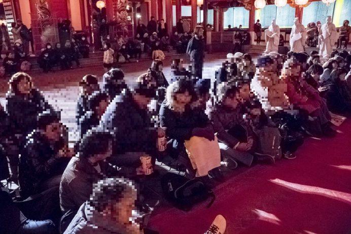 長崎ランタンフェスティバル、孔子廟会場の中国変面ショー