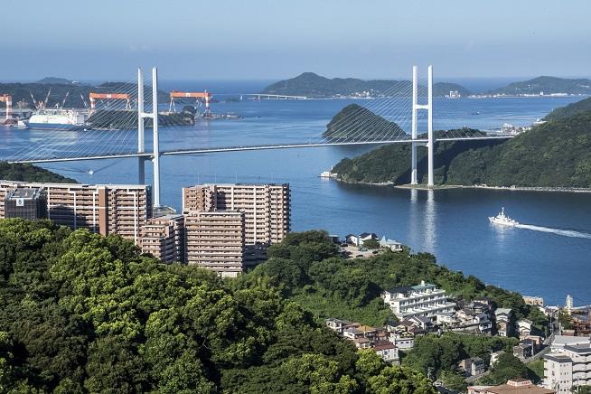 鍋冠山公園展望台からの女神大橋