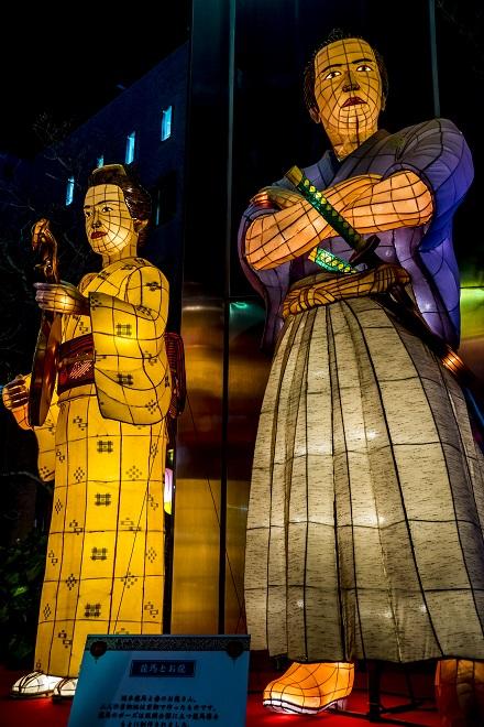長崎ランタンフェスティバル(龍馬とお龍)