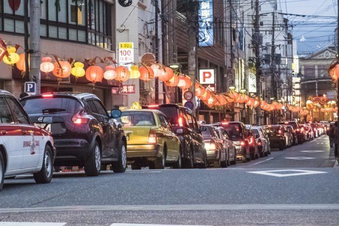 長崎ランタンフェスティバル(新地中華街)の大渋滞