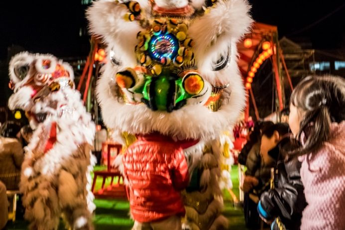 長崎ランタンフェスティバル(中央公園の中国獅子舞)