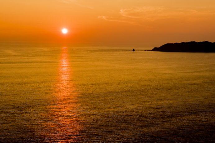 樺島灯台公園(長崎市野母崎地区)の夕景、2016.8月9日