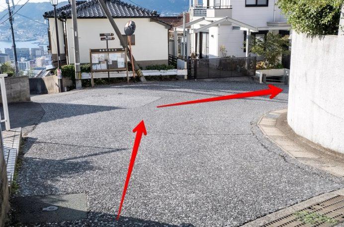 風頭公園(長崎市伊良林)への徒歩の行き方