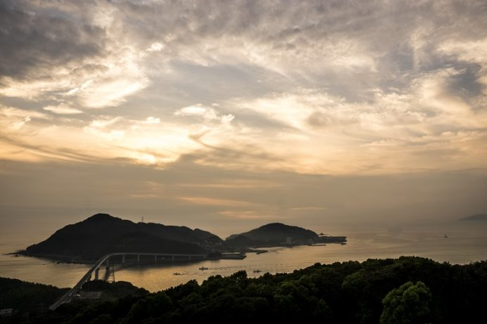 香焼総合公園(長崎市)の夕景