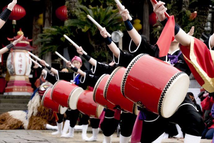 長崎ランタンフェスティバル(興福寺)の琉球國祭り太鼓エイサー