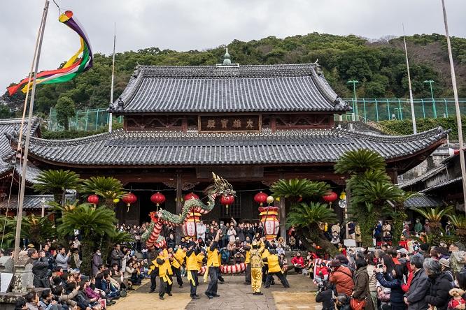 長崎ランタンフェスティバル(興福寺の龍踊り)