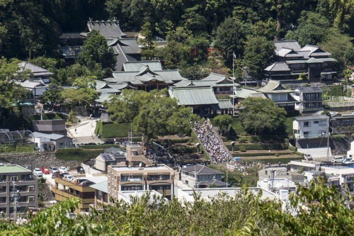 風頭公園(長崎市伊良林)からの諏訪神社