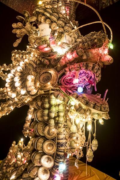 長崎ランタンフェスティバル(湊公園・新地中華街)のレンゲの龍と鳳凰