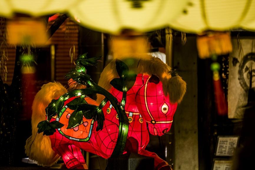 長崎ランタンフェスティバルの中島川公園会場(干支のランタン)