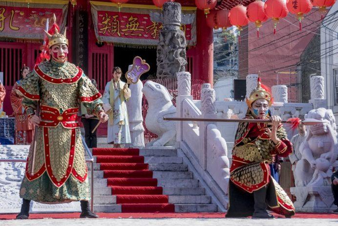 長崎ランタンフェスティバル(孔子廟)の媽祖行列