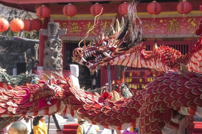 長崎ランタンフェスティバル(孔子廟)の龍踊り