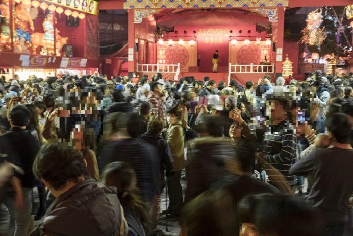 長崎ランタンフェスティバル(長崎新地中華街)での大混雑