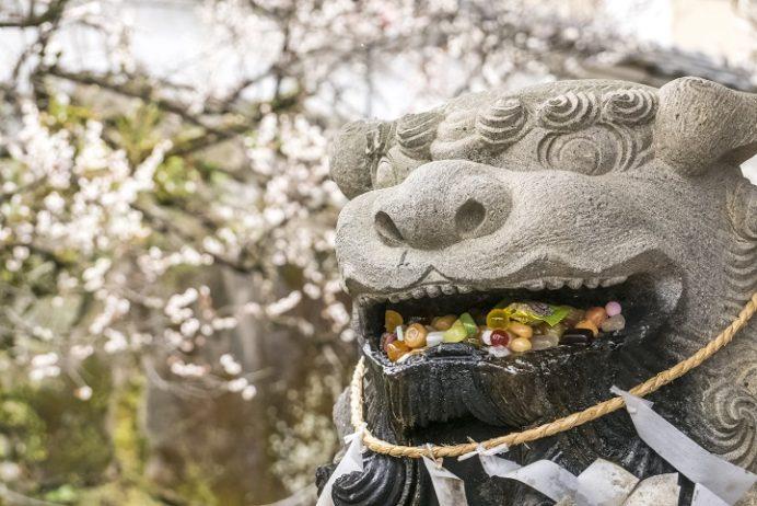 梅園身代り天満宮(長崎市丸山町)、歯痛狛犬