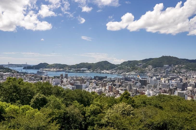 風頭公園展望台(長崎市伊良林)からの絶景