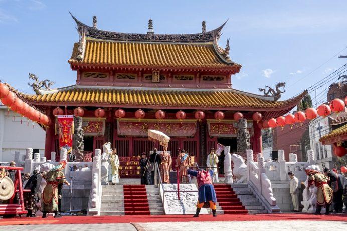 長崎ランタンフェスティバル(孔子廟)の媽祖行列(2月17日)