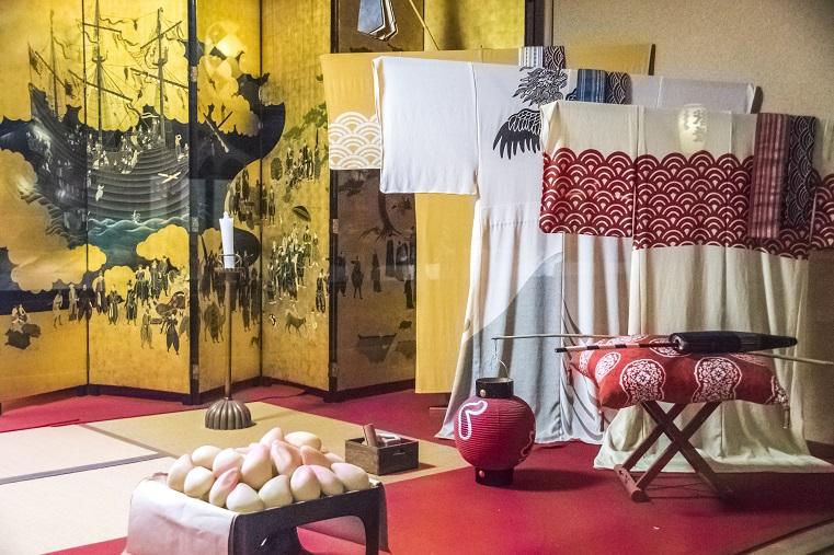 グラバー園(長崎市南山手町)の長崎芸能伝統館での展示物
