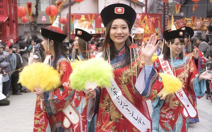 長崎ランタンフェスティバルの皇帝パレード2017.2.4 (土)
