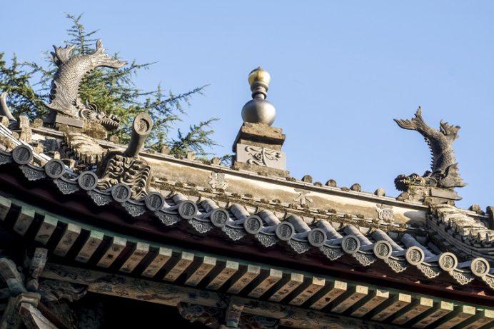崇福寺(長崎市鍛冶屋町)の三門