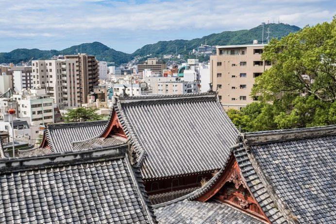 崇福寺墓地より長崎市街の眺望