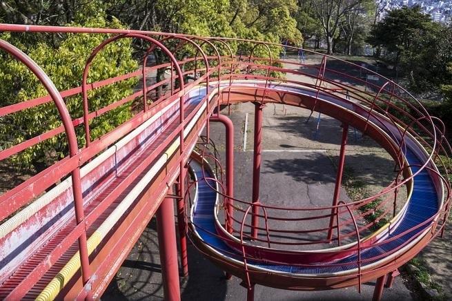立山公園(長崎市)のローラースライダー