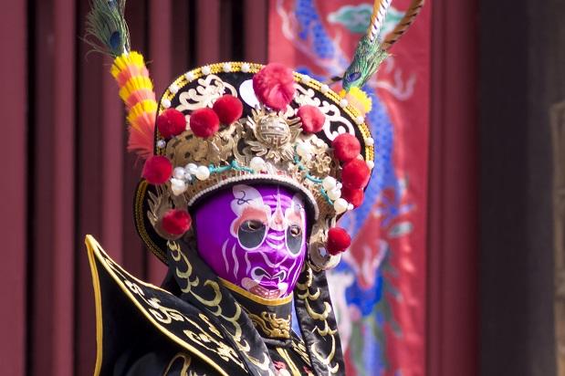 長崎孔子廟での変面ショー