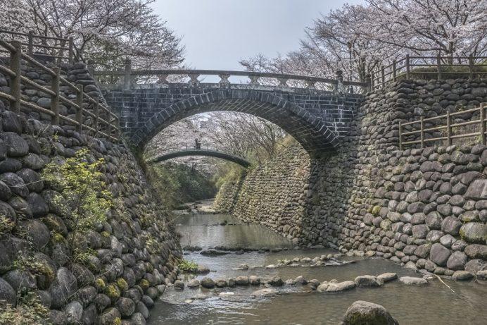 西山ダム下流公園(長崎市)の高麗橋
