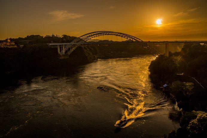 西海橋公園(長崎県西海市・佐世保市針尾)からの夕日