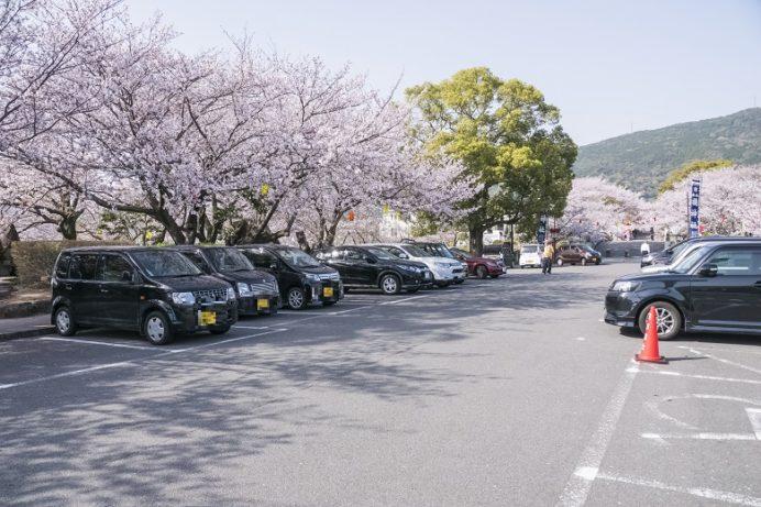 橘神社(長崎県雲仙市千々石)の駐車場