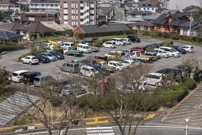 中尾城公園(長崎県西彼杵郡長与町)の駐車場