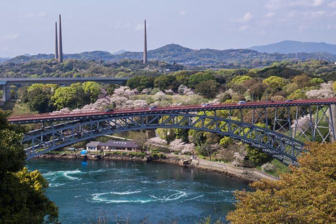 【満開日いつ?開花速報2021!】「西海橋の桜」~夜にはぼんぼり花見を楽しめる?
