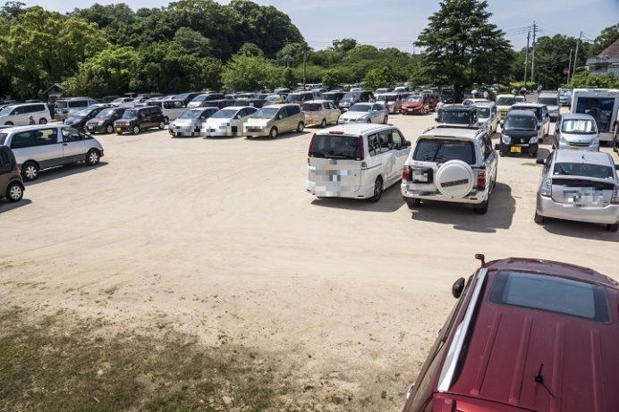 大村公園(長崎県大村市玖島)の駐車場