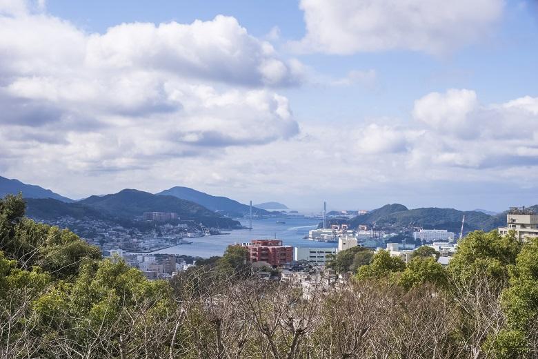 立山公園(長崎市)の展望台からの風景