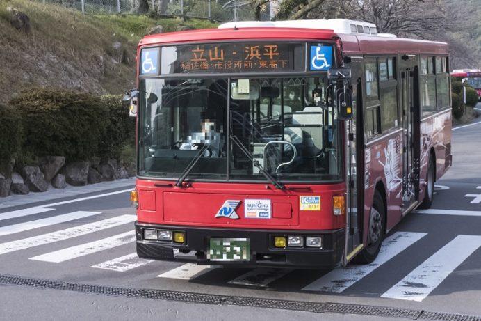 立山公園行きの路線バス