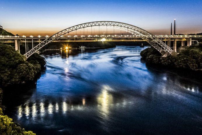 西海橋公園(長崎県西海市・佐世保市針尾)の夜景