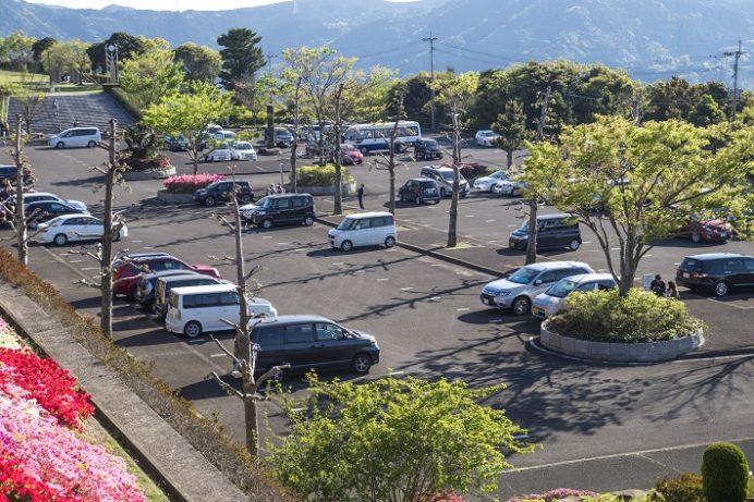不老山総合公園(長崎県松浦市)の駐車場