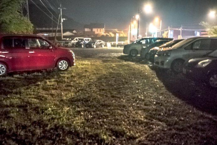 波佐見陶器市の白山陶器の駐車場