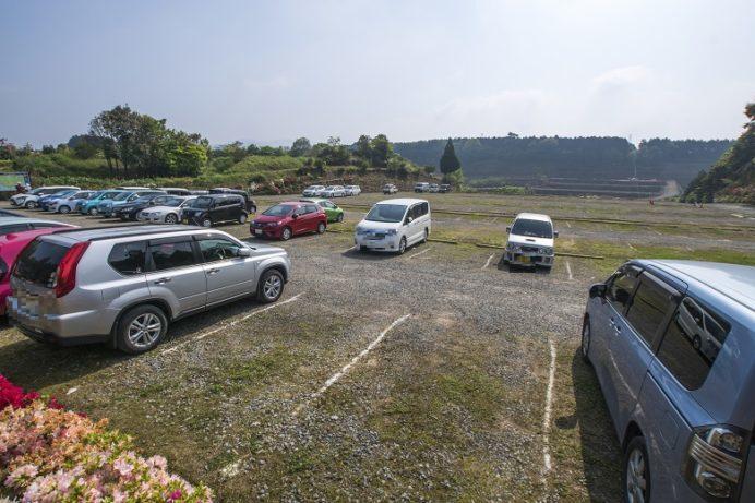 松本ツツジ園(長崎県大村市)の駐車場