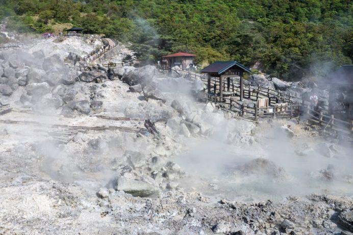 雲仙地獄(長崎県雲仙市小浜町)のお糸地獄 (真知子岩)
