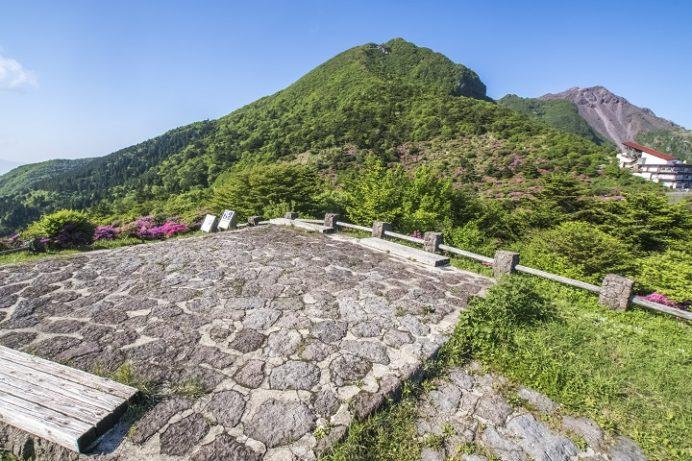 雲仙岳・仁田峠(長崎県島原半島)、野岳展望所