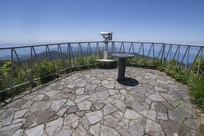 雲仙岳登山道(長崎県島原半島)、妙見岳、山頂展望台
