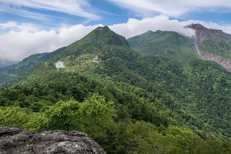 雲仙岳登山道(長崎県島原半島)、野岳からの絶景