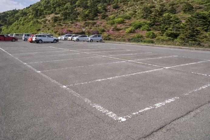 雲仙仁田峠の駐車場(長崎県)