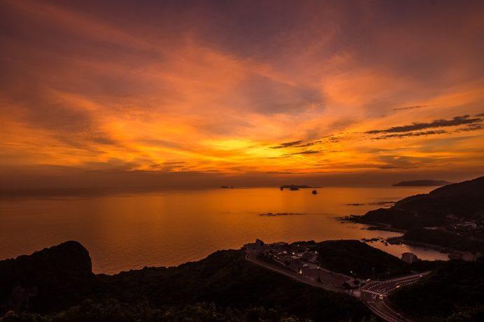 夕陽が丘そとめ(長崎市外海地区)、夕陽が丘そとめ(長崎市外海の夕日)、大城公園展望台より