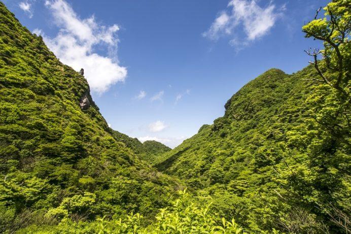 雲仙岳登山道(長崎県島原半島)、鬼人谷口
