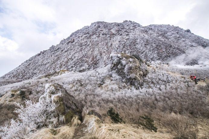 雲仙岳登山道(長崎県島原半島)、立岩の峰の霧氷