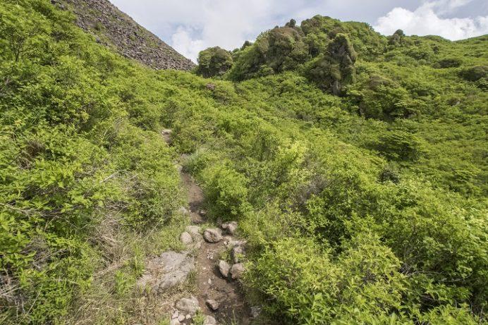 雲仙岳登山道(長崎県島原半島)、立岩の峰