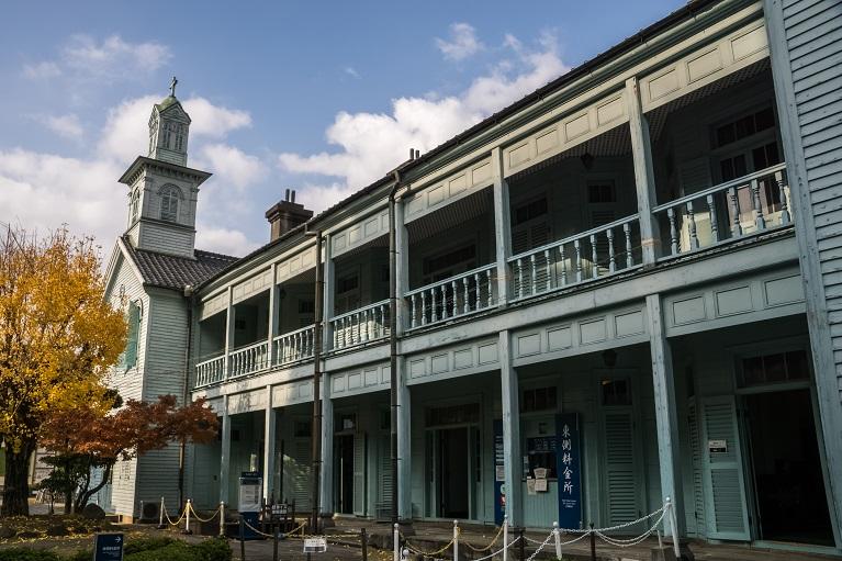 長崎市の出島(出島和蘭商館跡)の旧出島神学校