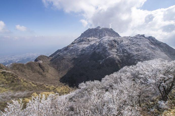 雲仙岳登山道(長崎県島原半島)、国見岳の霧氷